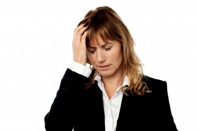 business woman headache
